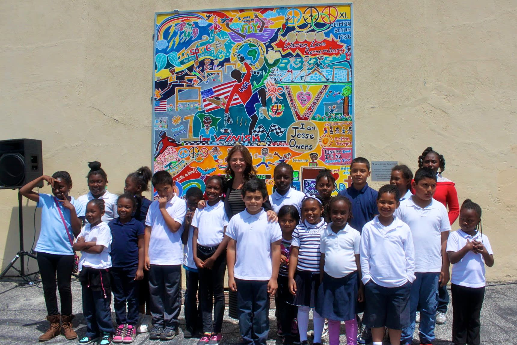 """""""I am Jesse Owens"""" Mural by Tiffany Graham and Warren Lane"""