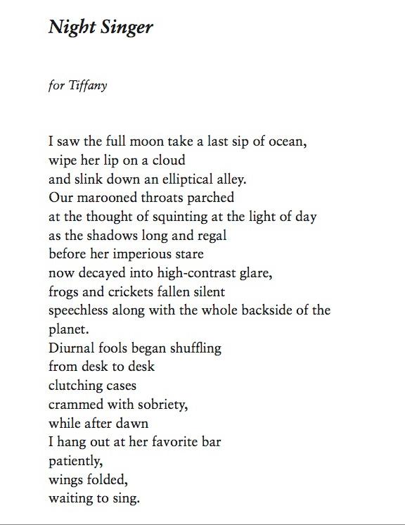 Night Singer Poem